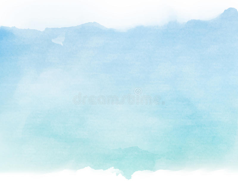 Blue tones water color on old paper texture background. Blue tones watercolor on old paper texture background royalty free illustration