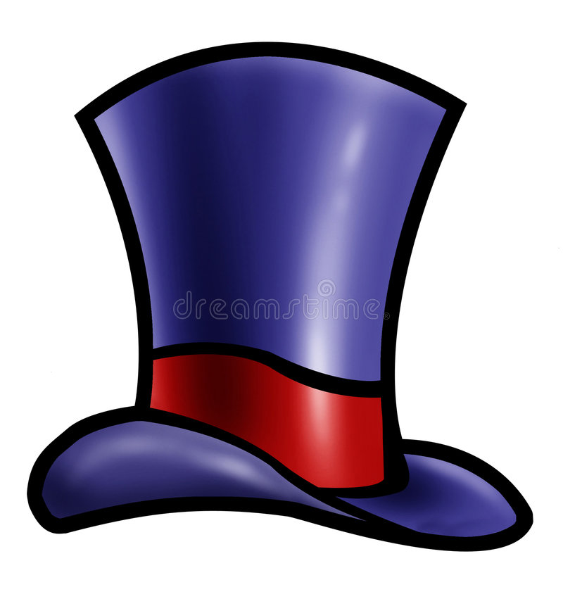 Download Blue top hat stock illustration. Image of high, painting - 4325933