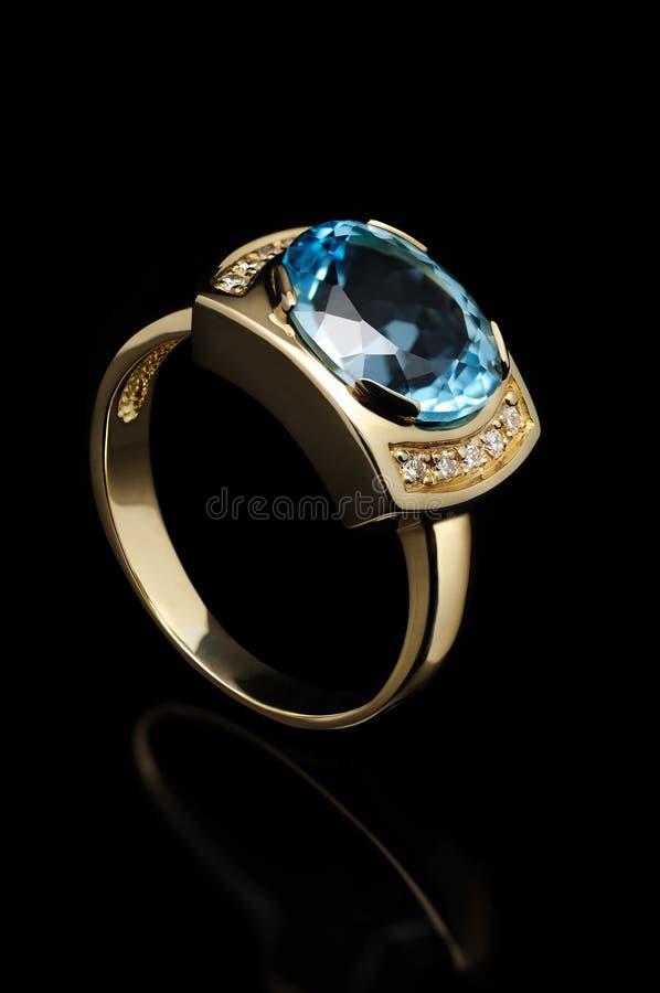 Blue Topaz Ring Stock Images