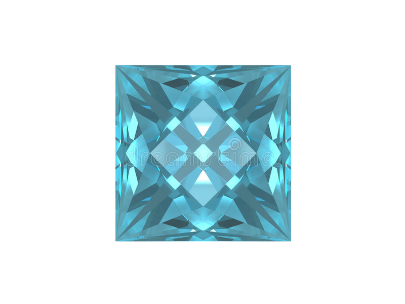 Blue topaz. Square form. royalty free illustration