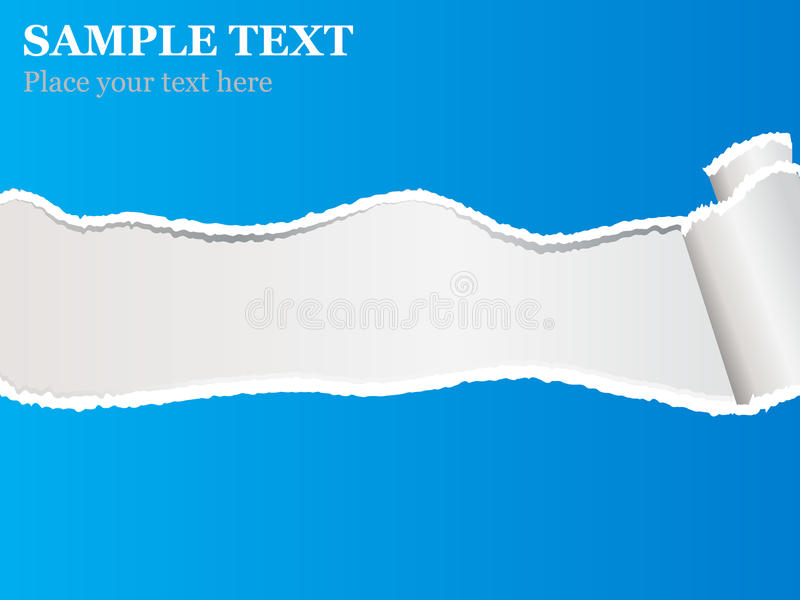 Download Blue torn paper stock vector. Image of abstract, line - 23979305