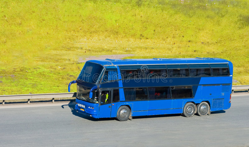 Download Blue Tourist Bus Royalty Free Stock Photos - Image: 5208088