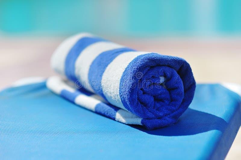 Blue towel stock image
