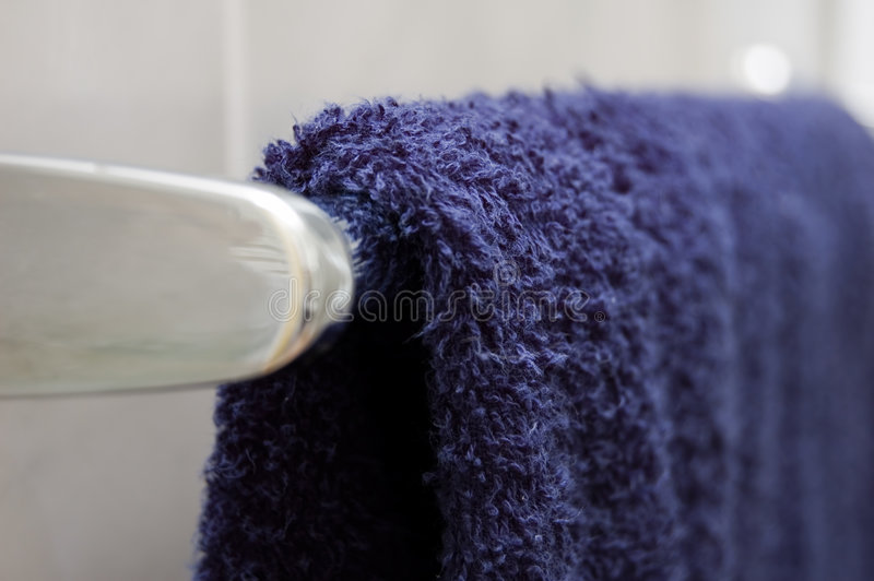 Blue Towel Royalty Free Stock Photography