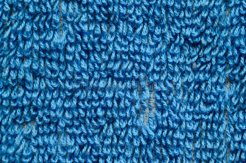 Blue Towel Texture Close-up royalty free stock photography