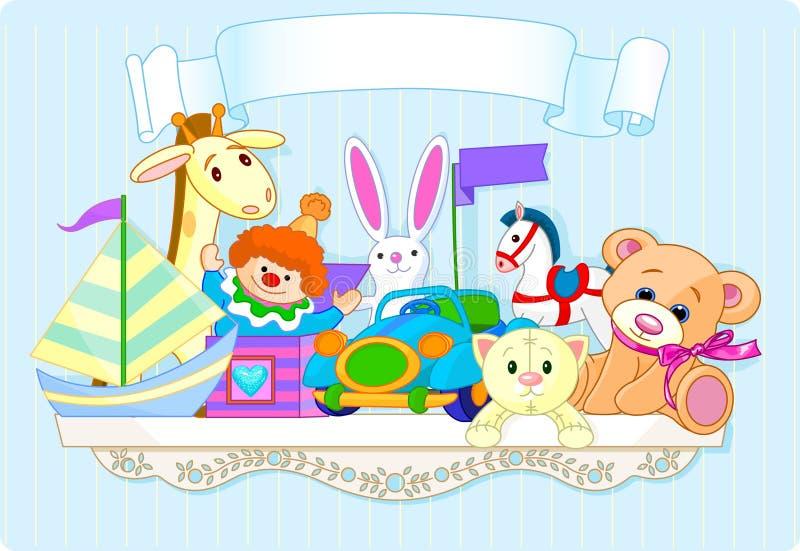 Blue toy shelf stock illustration