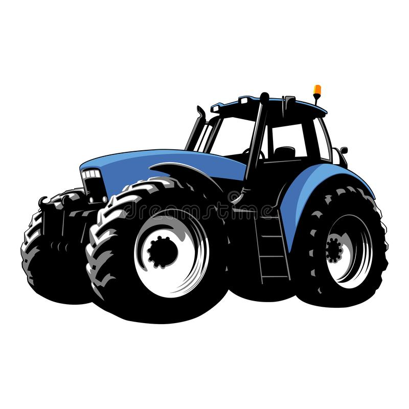 Blue Tractor. Farm Machine. Tractor on a white background. Vector Stock illustration. vector illustration