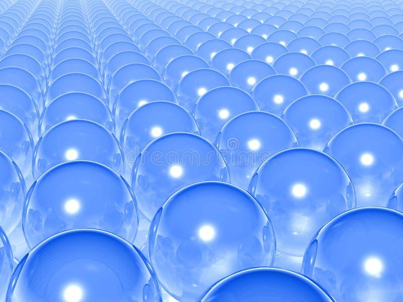 Download Blue transparent balls stock illustration. Illustration of glass - 3306391