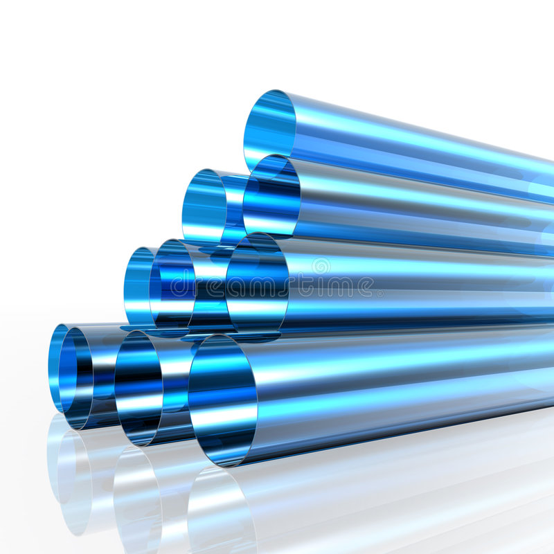 Download Blue Transparent Pipes Royalty Free Stock Images - Image: 6677769