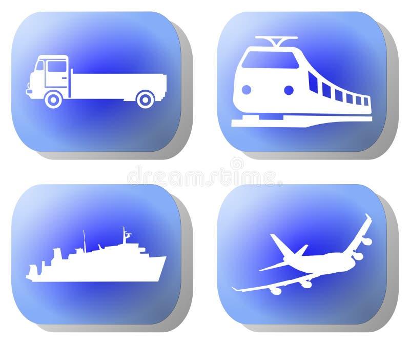 Download Blue transport buttons stock illustration. Illustration of railway - 6084784