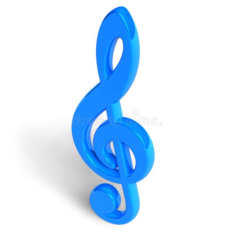 Download Blue treble clef stock illustration. Image of entertainment - 11681864