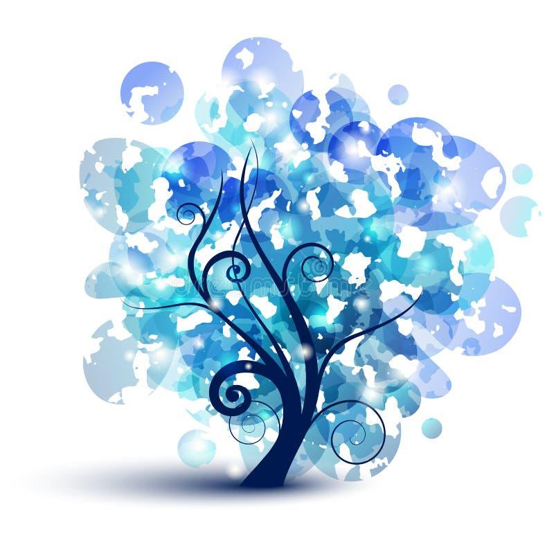 Blue tree royalty free stock photo