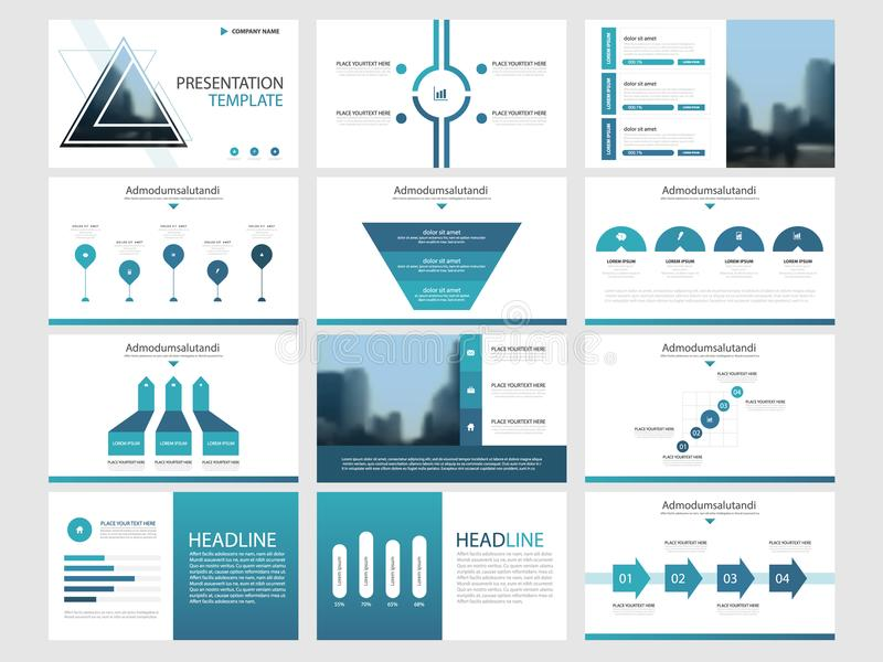 Blue triangle Bundle infographic elements presentation template. business annual report, brochure, leaflet, advertising flyer, royalty free illustration