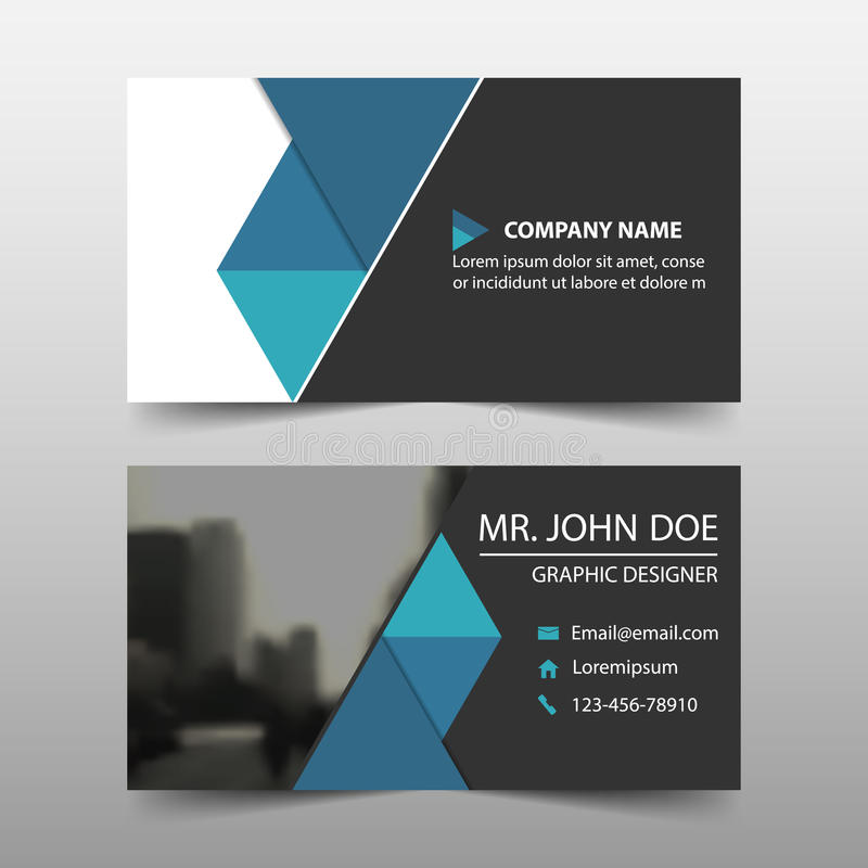 Blue Triangle Corporate Business Card, Name Card Template ...