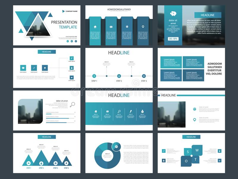 Blue triangle Bundle infographic elements presentation template. business annual report, brochure, leaflet, advertising flyer,. Blue triangle infographic vector illustration