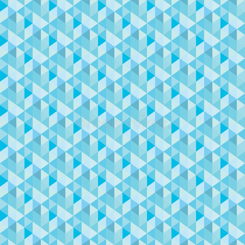 Blue triangle, pattern. Seamless vector design Abstract royalty free illustration