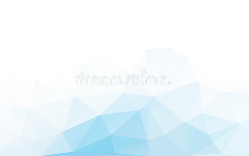 Blue triangle polygonal geometric design royalty free illustration