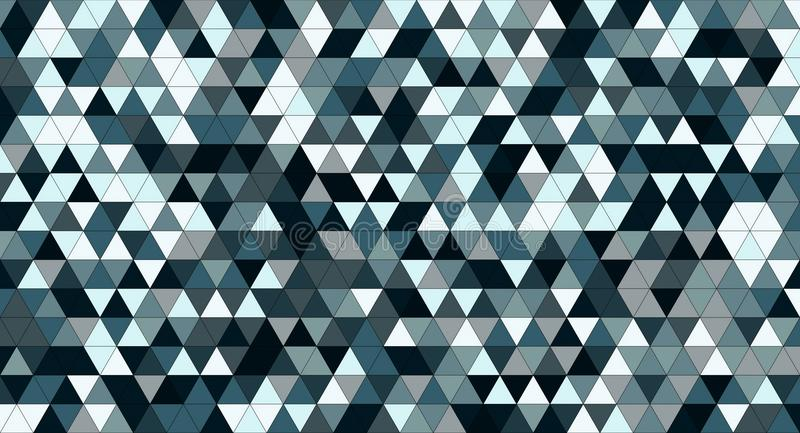 Blue triangle tiles texture, seamless pattern graphic background. Illustration stock illustration
