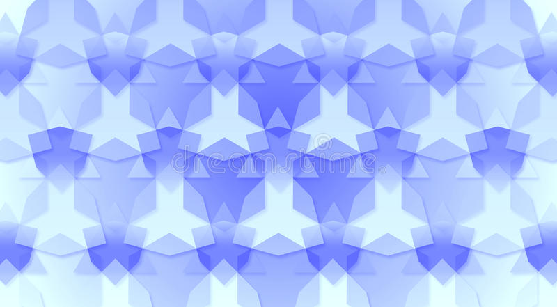 Blue Triangles and Hexagons Background Texture. Abstract background made from triangles and hexagon shapes royalty free illustration