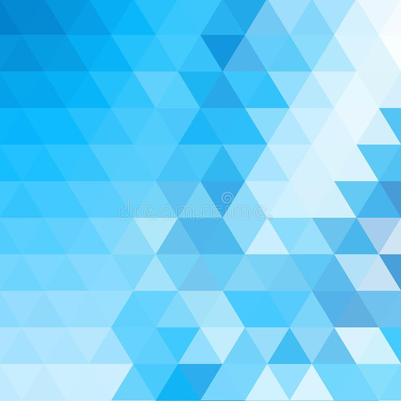 Blue triangles illustration. hexagon background. mosaic design. eps 10. Blue triangles illustration. hexagon background. mosaic design, polyhedrons, science vector illustration