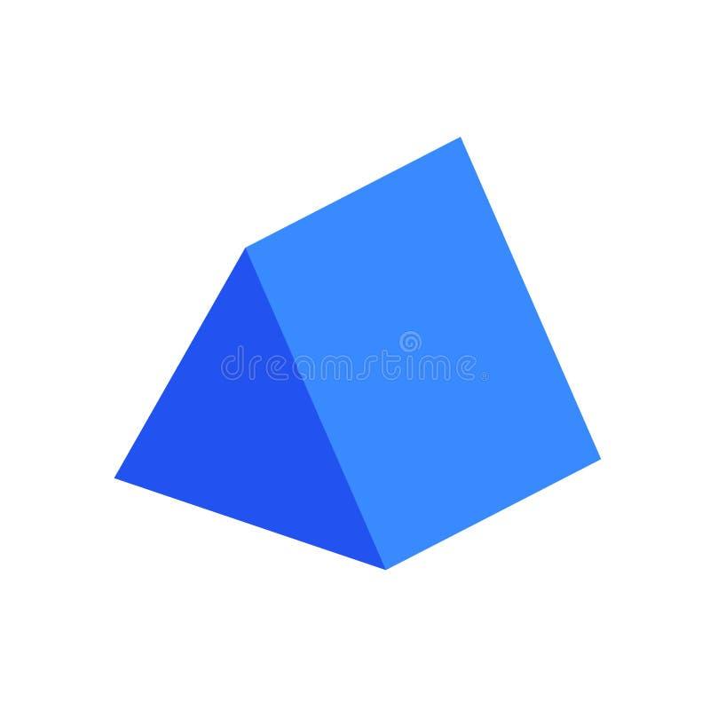 Free Blue Triangular Prism Basic Simple 3d Shape Isolated On White Background, Geometric Triangular Prism Icon, 3d Shape Symbol Royalty Free Stock Photography - 144602577