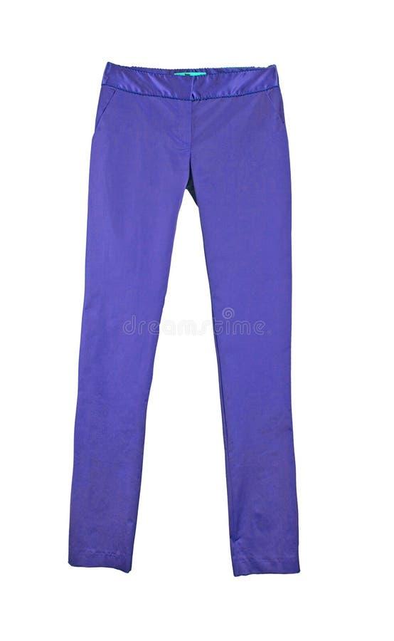 Blue trousers leggings royalty free stock photos
