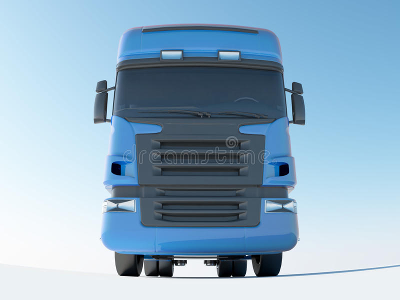 Blue truck front view royalty free illustration