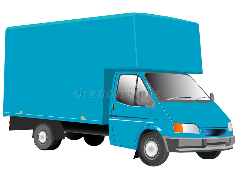 Blue truck illustration