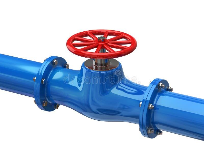 Download Blue tube with red valves stock illustration. Illustration of built - 22315747