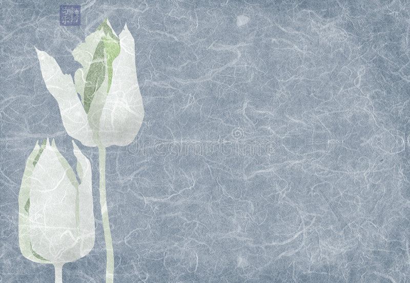 Blue tulips collage royalty free illustration