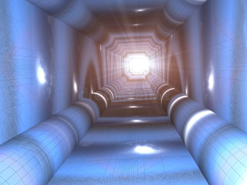 Blue Tunnel royalty free stock photography