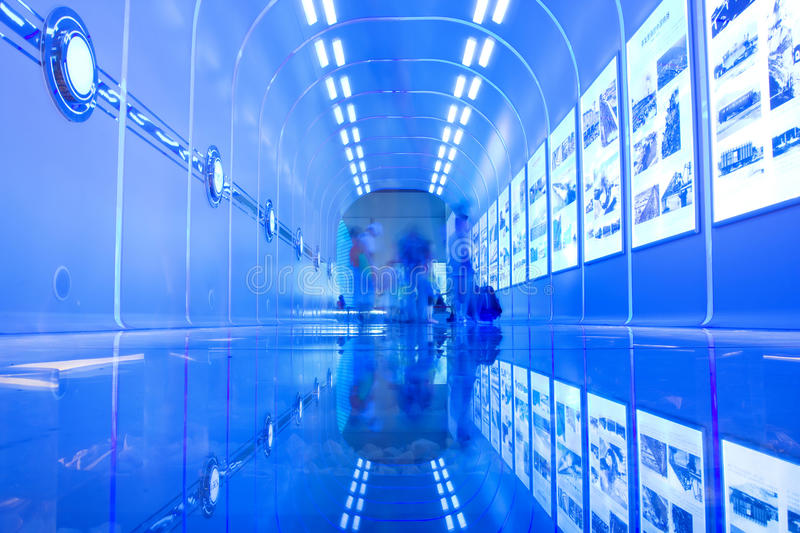 Download Blue Tunnel editorial stock photo. Image of direction - 15943078