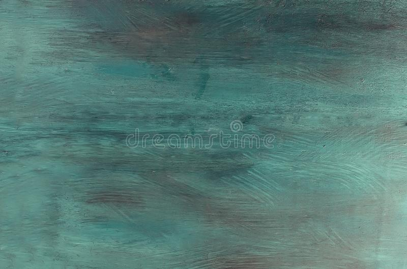 The blue and turquoise wood texture. The blue and turquoise brush stroke wood texture with natural patterns background royalty free stock photography