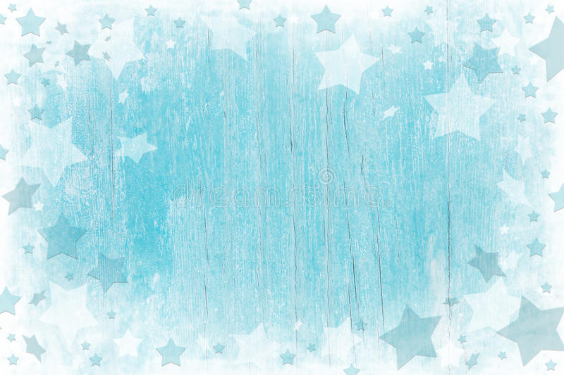 Blue or turquoise wooden christmas background with texture. Blue or turquoise wooden christmas background with texture and white stars