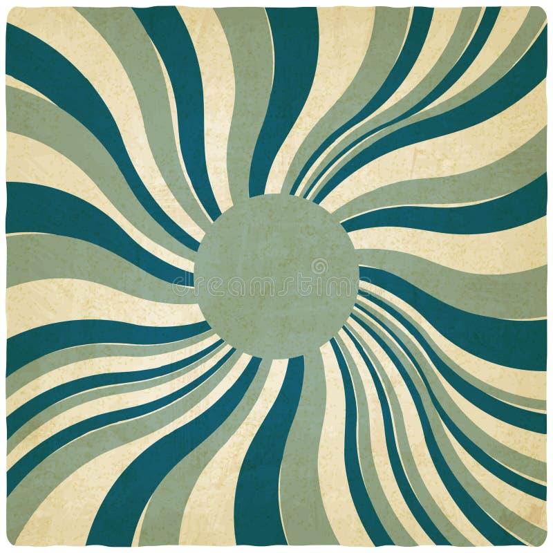 Blue twisted old background vector illustration