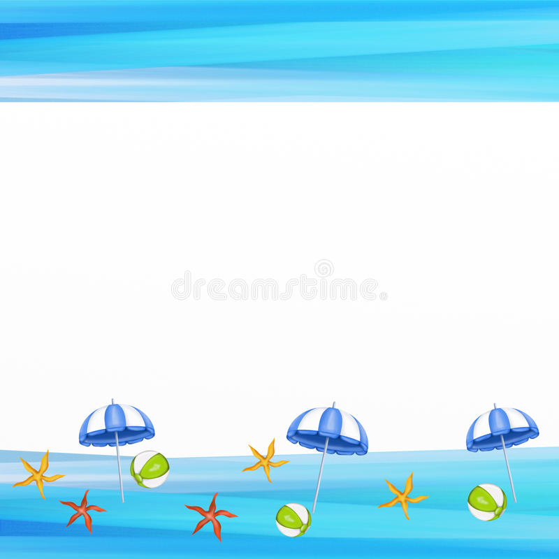 Blue umbrellas on the beach. Background with blue umbrellas on the beach vector illustration