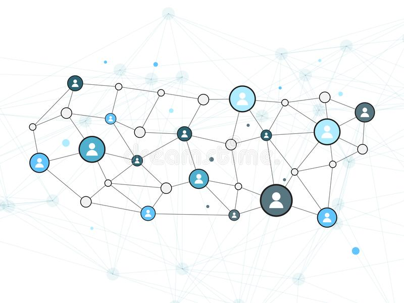 Social Network Vector Design Concept Illustration with User Icon stock illustration