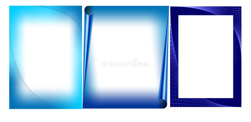 Blue valentine cards stock photo