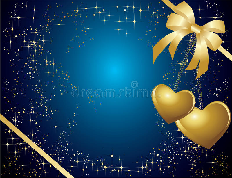 Download Blue valentines card stock vector. Image of element, february - 12574105