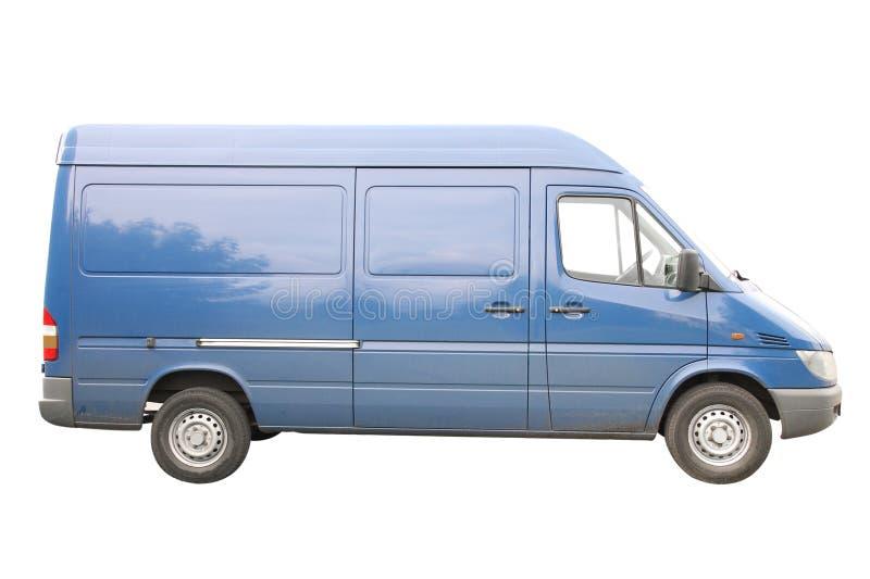 Blue van royalty free stock image