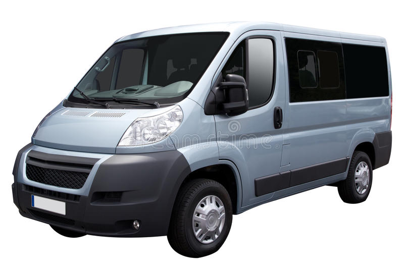 Download Blue Van stock photo. Image of shuttle, parked, delivery - 20040224
