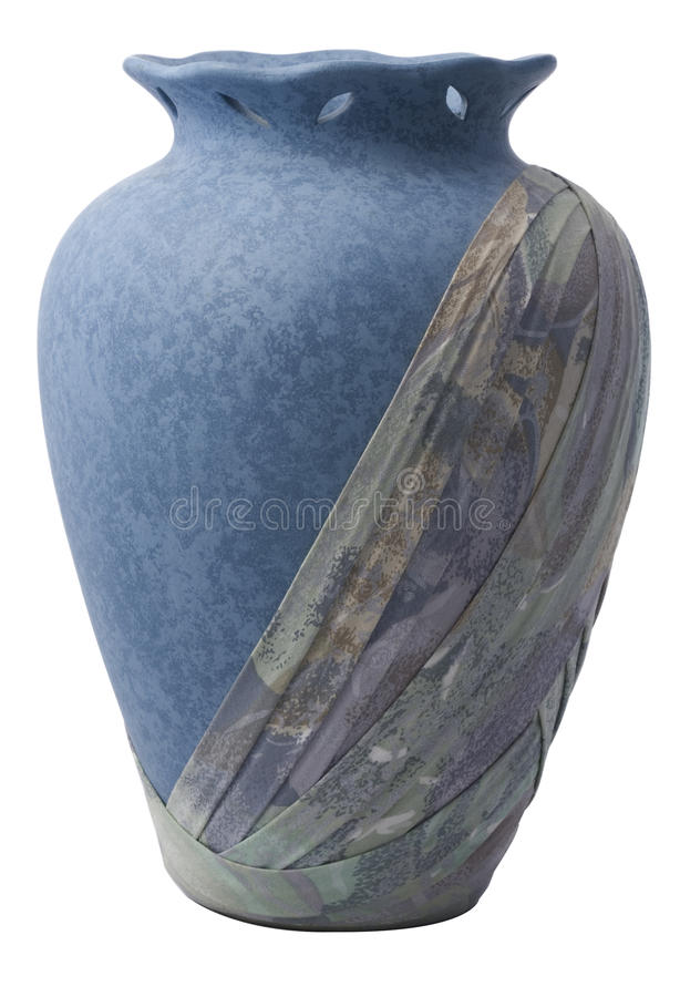 A Blue Vase With Cloth Stock Image
