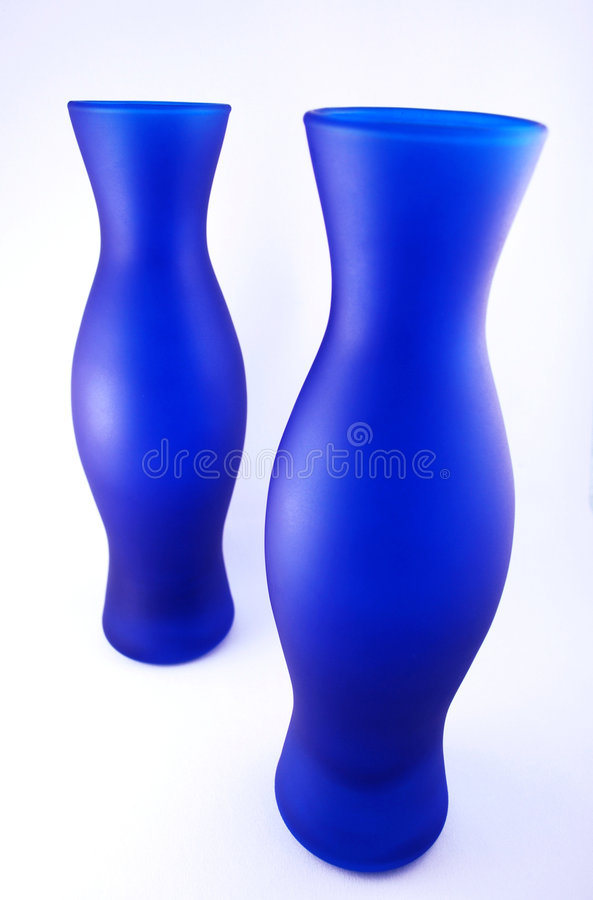 Blue Vases royalty free stock images