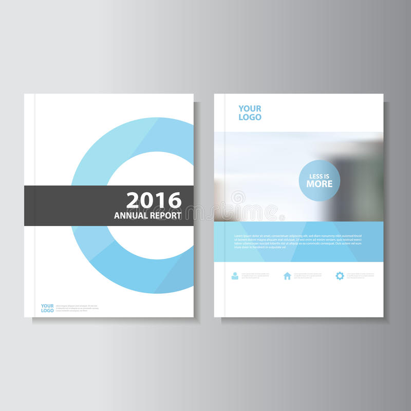 Blue Vector annual report Leaflet Brochure Flyer template design, book cover layout design, Abstract blue templates vector illustration