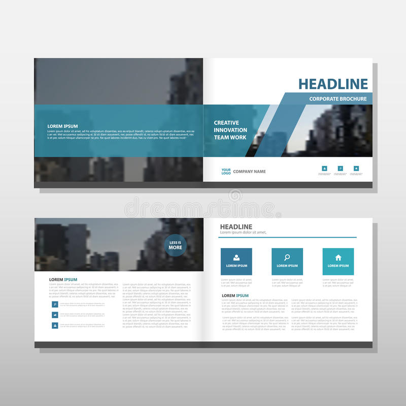 Blue Vector annual report Leaflet Brochure Flyer template design, book cover layout design, abstract business presentation. Template royalty free illustration