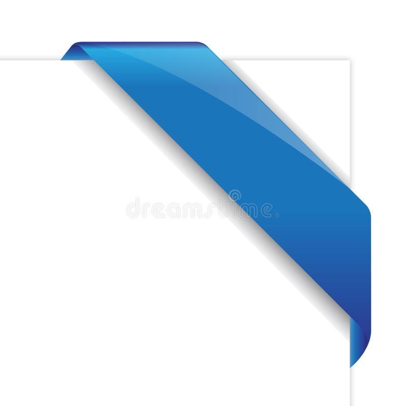 Blue vector corner ribbon