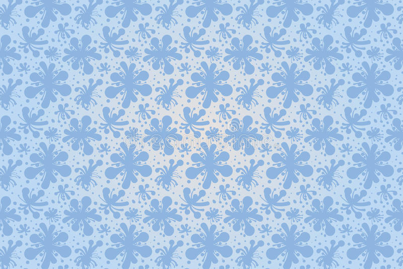 Blue vector flowers seamless pattern for illustrator stock images
