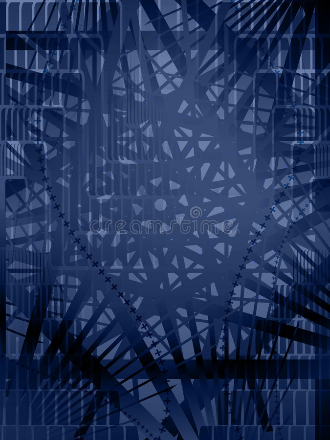 Blue Vector Shape Background. Blue abstract shape overlay background, vertical royalty free illustration
