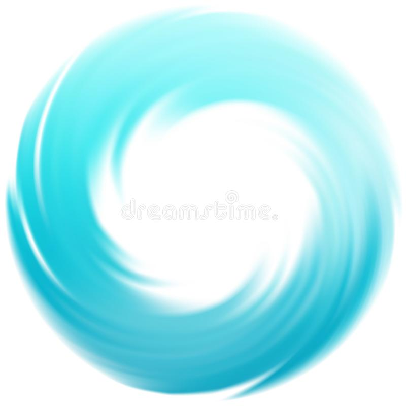 Blue vector vortex background Waves of sea water color in a circle. Eps10 royalty free illustration