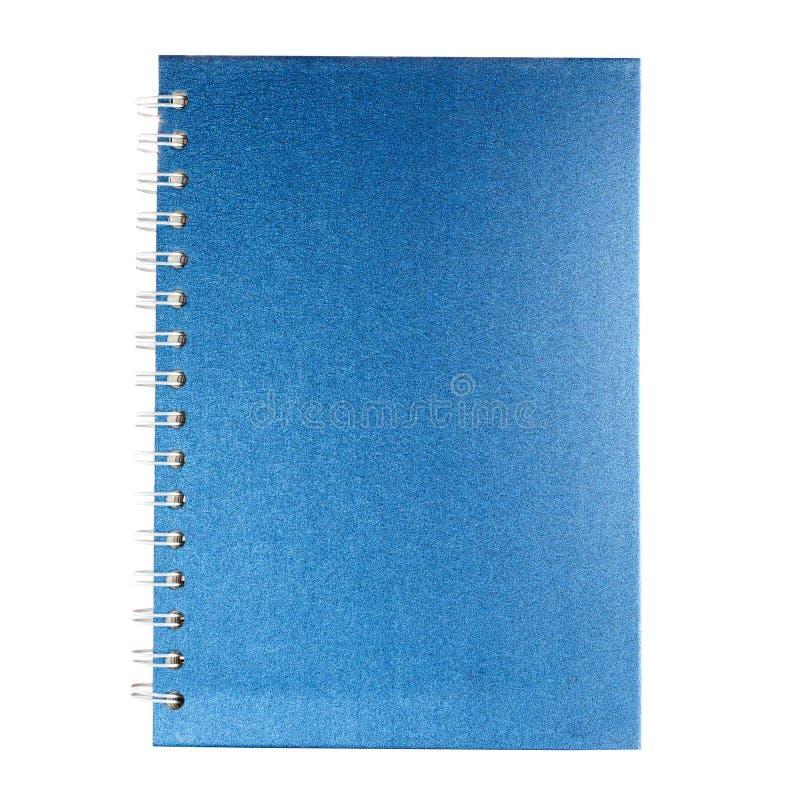Blue velvet notebook. Isolated on white background royalty free stock images
